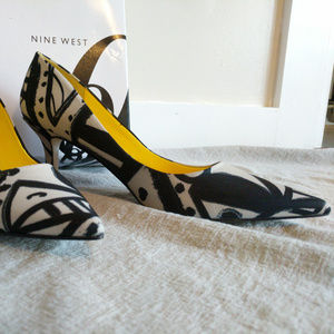 Nine West Black and White Heel, Size 9.5